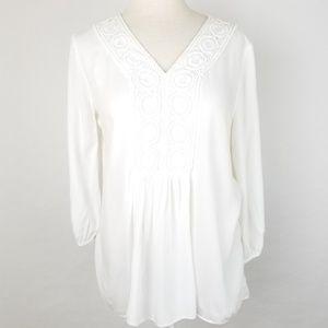 Spense Top Boho size Lg White Tunic style